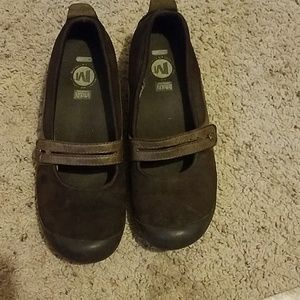 Merrell Mary Jane Ortholite Leather Brown 6.5